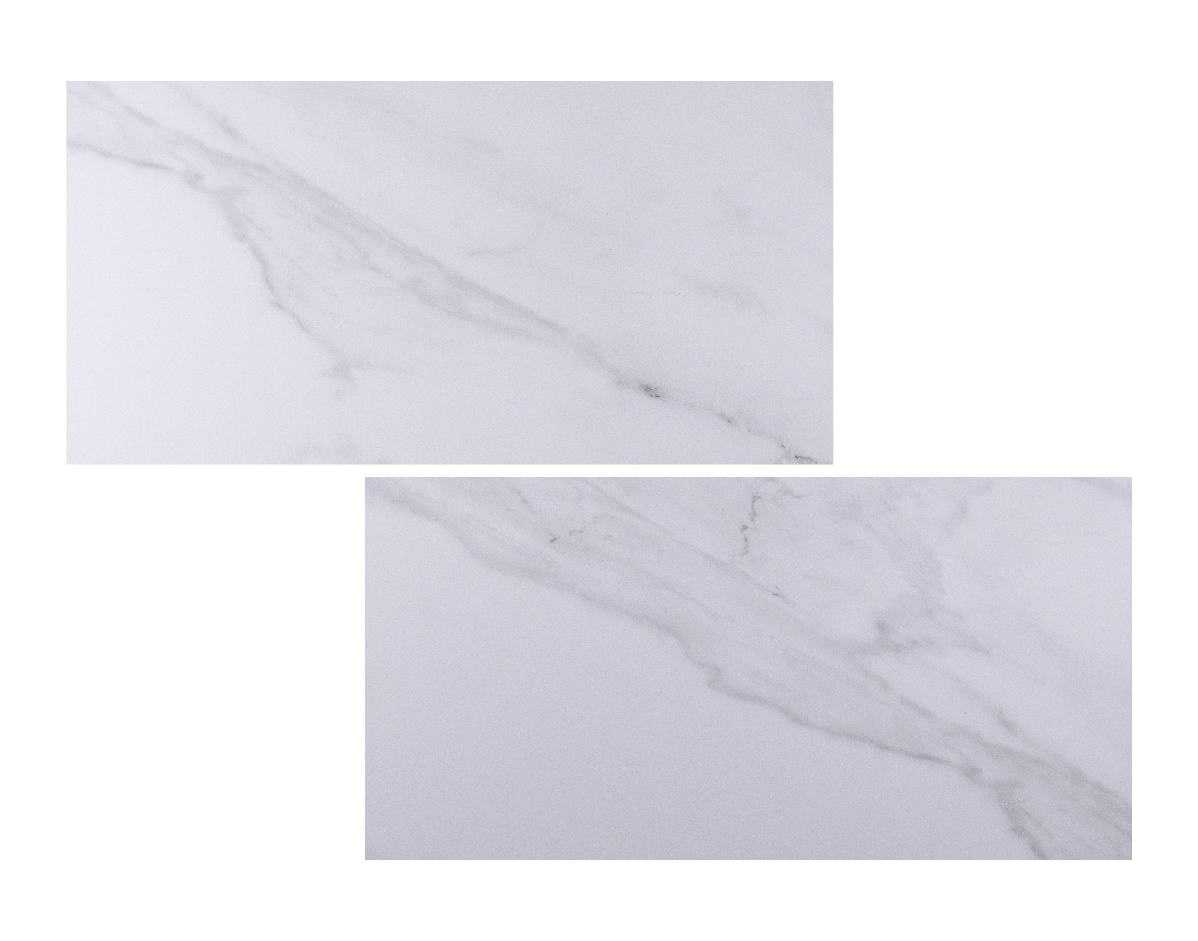 Trianon White Glossy Marble Look 12x24