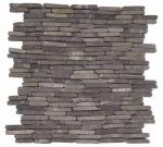 Grey Stacked Brick Marble Interlocking Mosaic
